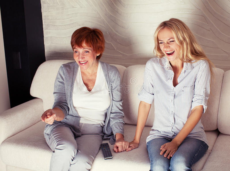 Women Looking Film Comedy Royalty Free Stock Photography
