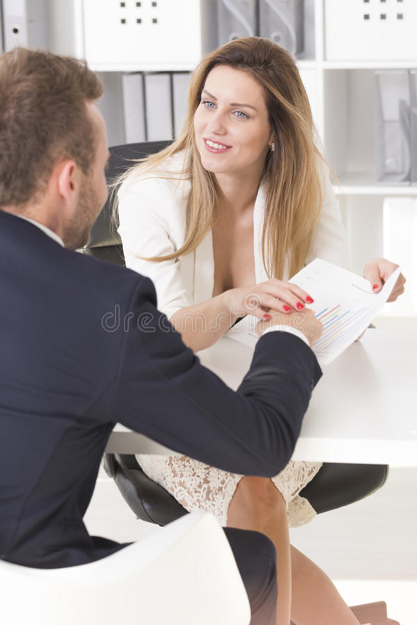 woman touching her co-worker`s hand royalty free stock photography