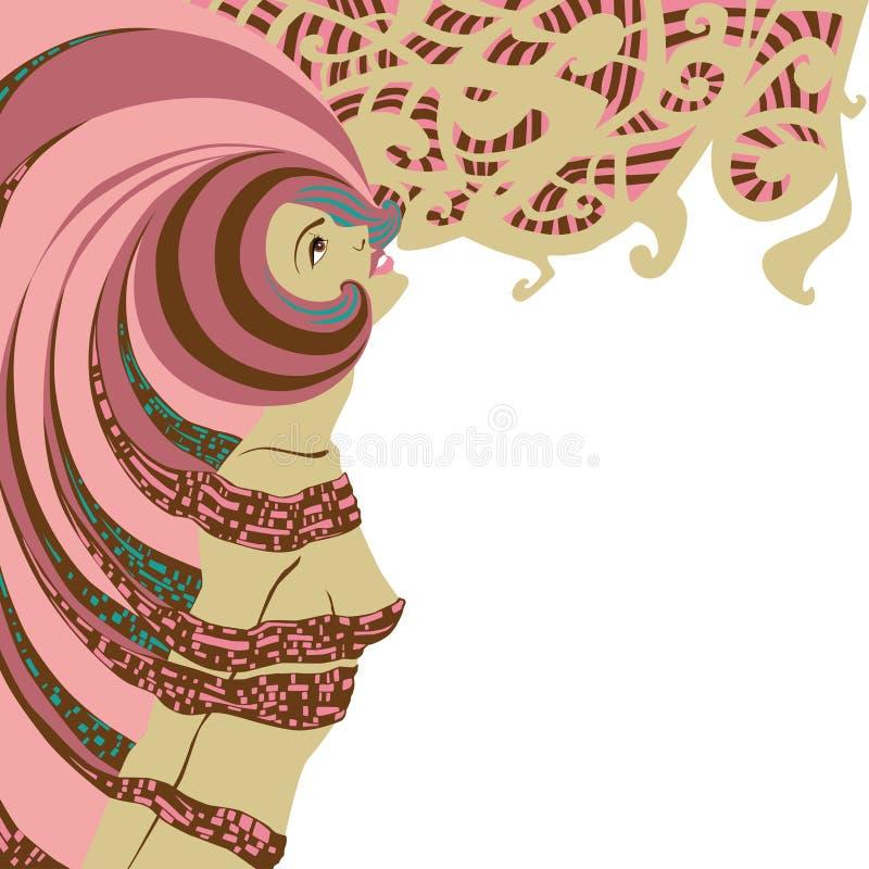 Women looking up vector illustration
