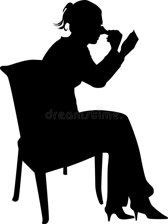 Women make up silhouette