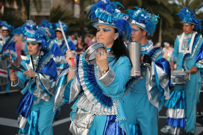 Download Women And Man In Costumes At The Carnival Parade Editorial Photography - Image: 8553772