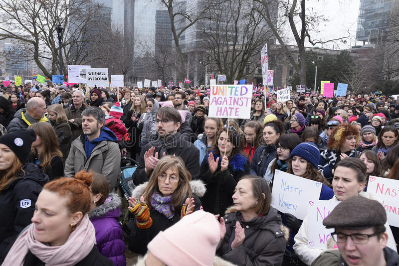 Women March in Toronto. royalty free stock images