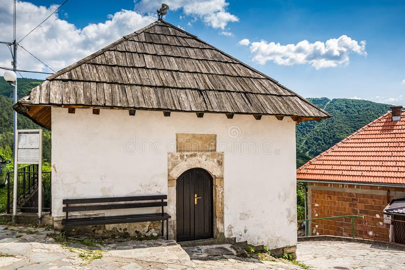 Women mosque - Dizdareva dzamija - in Jajce, Bosnia and Herzegovina.  stock photos