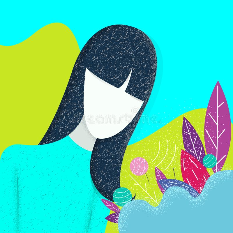 Women and nature. Modern vector illustration concepts for website and mobile website development.  vector illustration