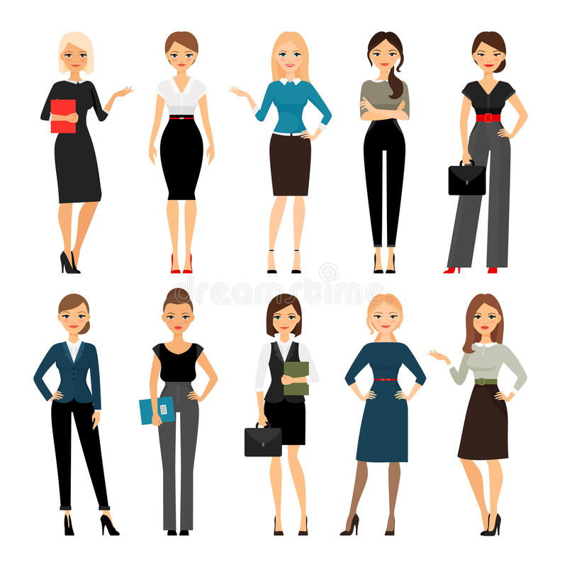 Women in office clothes vector illustration