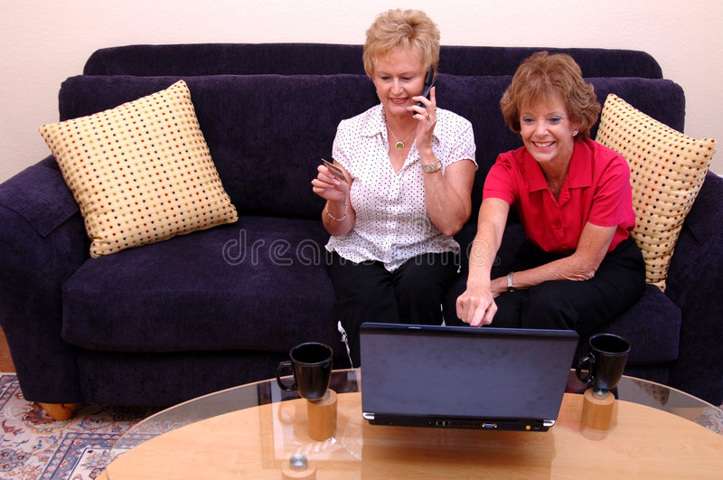 Download Women online shopping stock image. Image of busy, internet - 2807387