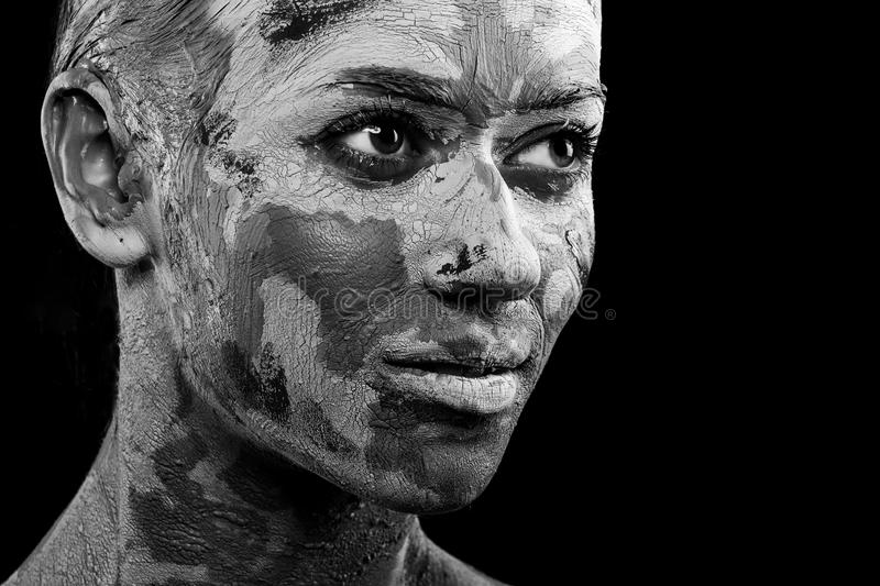 Women painted with make-up stock photos