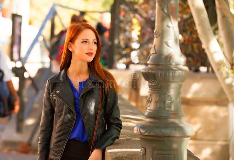 Women on parisian streets royalty free stock photography