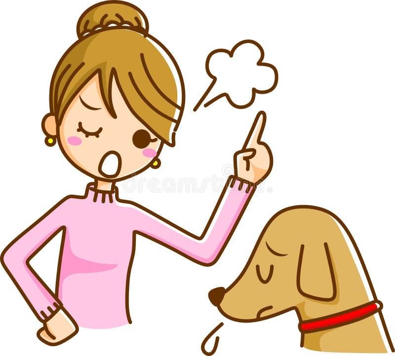 Download Women and Pets stock illustration. Image of walk, discipline - 21696404