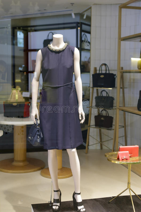 Women piece dress. Ladies piece dress in the shop, hong kong times square stock image