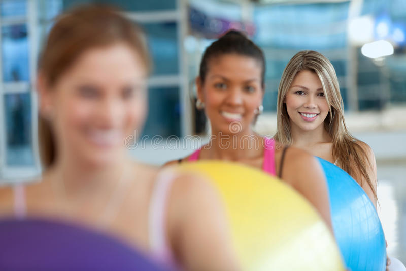 Download Women with pilates ball stock photo. Image of healthy - 15521584