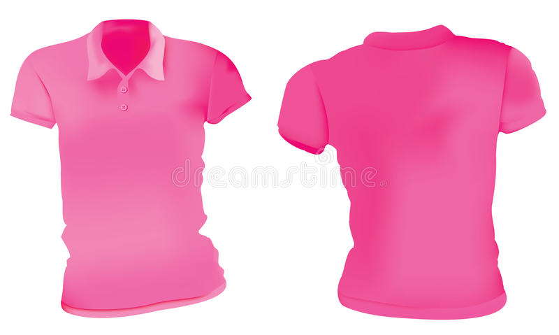 Women pink polo shirts template stock vector image 76984660 for Pink t shirt template