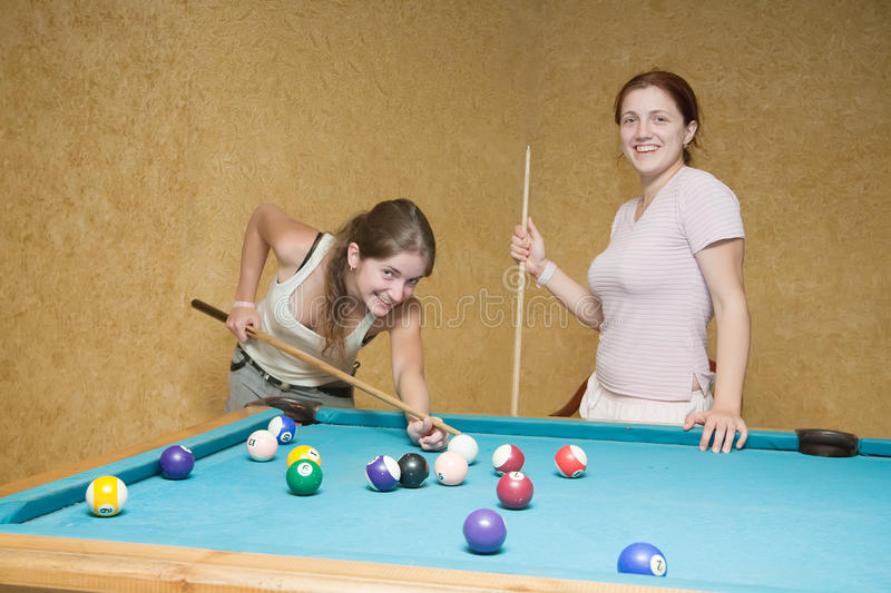 Download Women playing billiards stock photo. Image of girl, green - 12984478