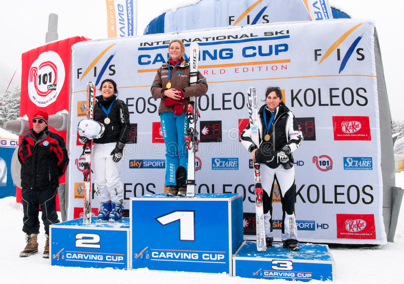 Download Women Podium Of Carving World Challenge 2011 Editorial Image - Image: 18169630