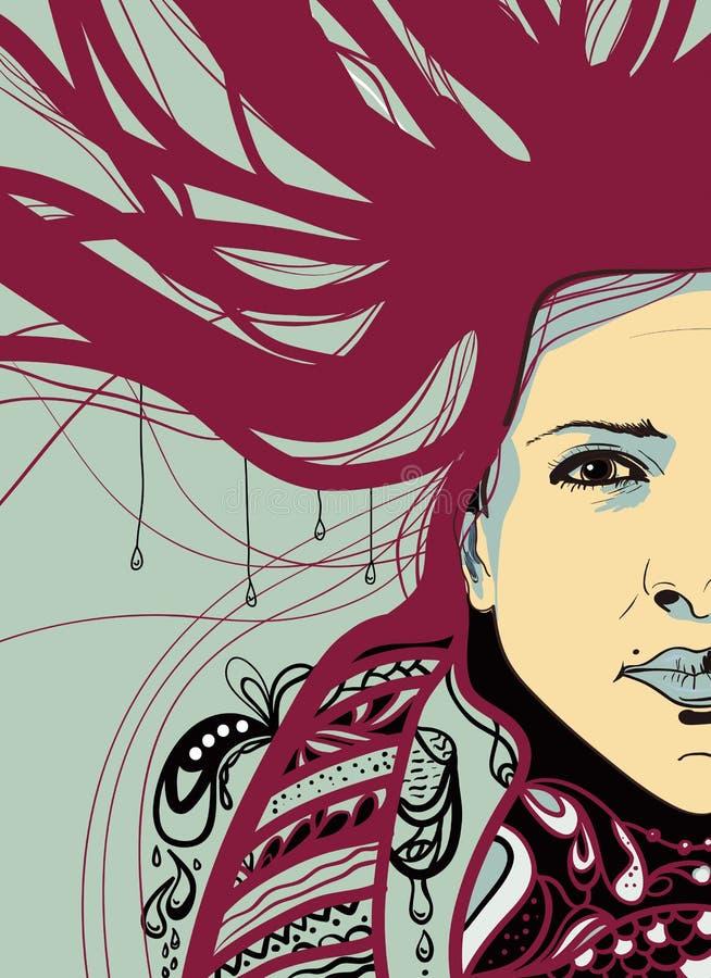 Download Women portrait stock vector. Image of head, artwork, hairstyle - 24832485