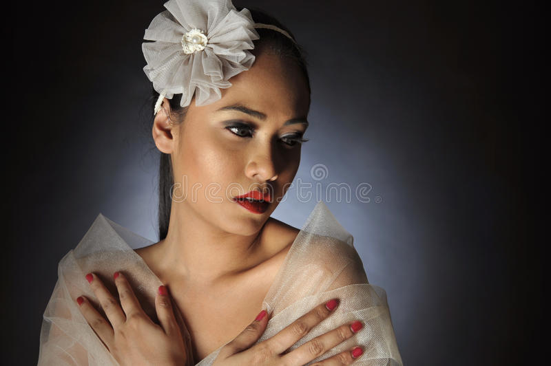 Women posing with Flower headband royalty free stock images