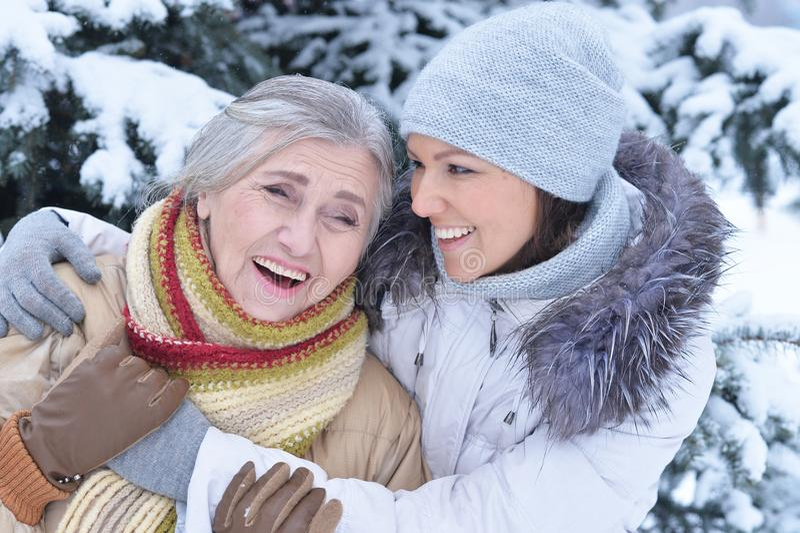 Women posing outdoors stock photos