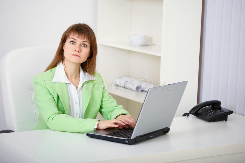 Women Prevented From Working On Computer Stock Photos