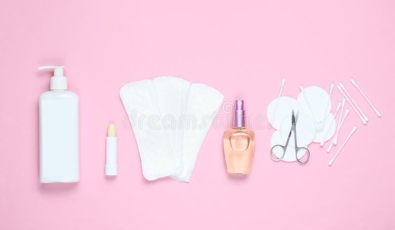 women& x27; prodotti di bellezza e di igiene di s fotografia stock libera da diritti