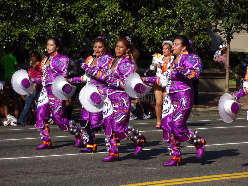 Women in Purple at the Festival royalty free stock photo