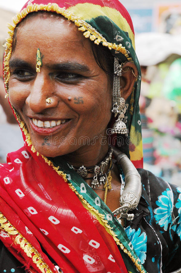 Women of Rajasthan In India. stock image