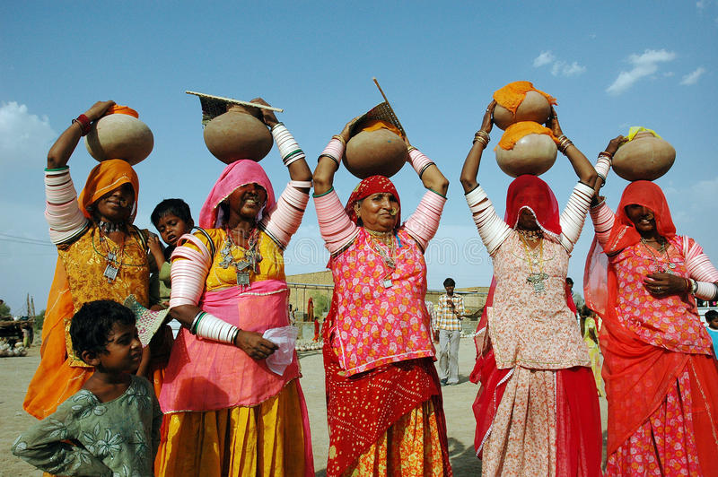 Women of Rajasthan In India. stock photography
