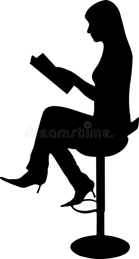 Download Women reading a magazine stock vector. Image of people - 9544150
