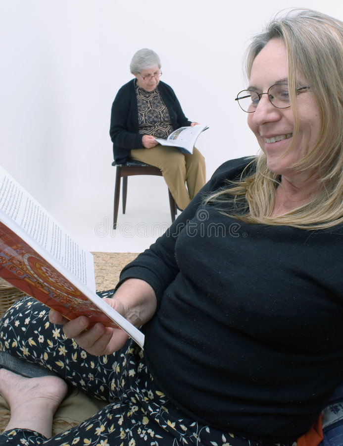 Download Women Reading Together stock image. Image of people, caucasian - 5094607