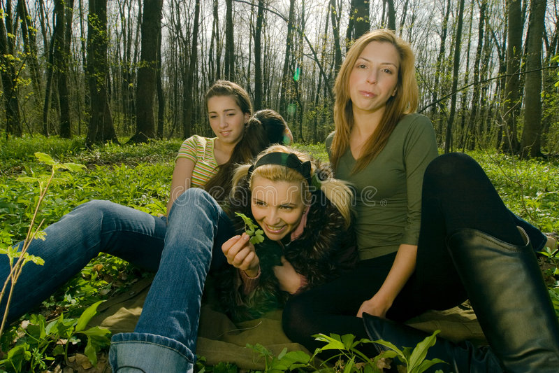 Download Women relaxing stock image. Image of tree, outdoors, friendship - 2505135