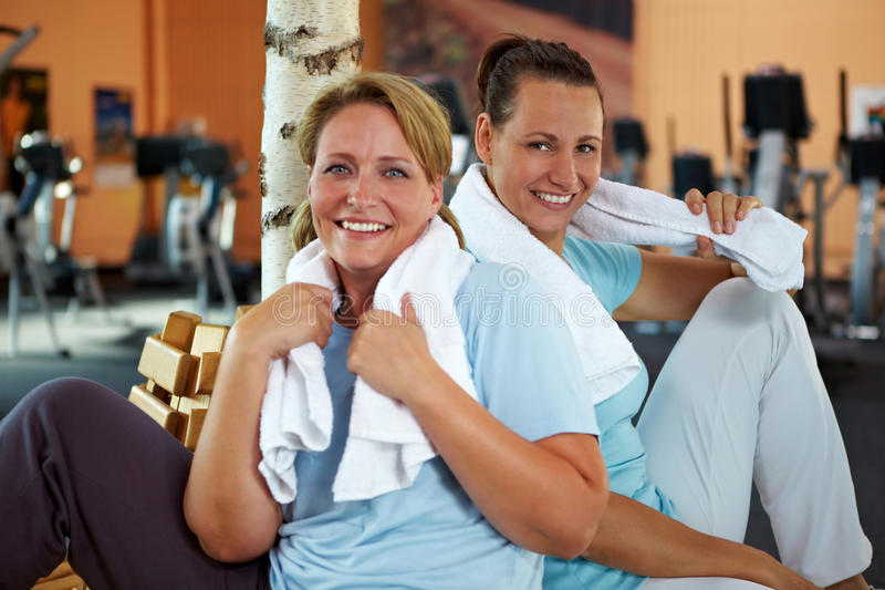Women Relaxing After Fitness Royalty Free Stock Photography