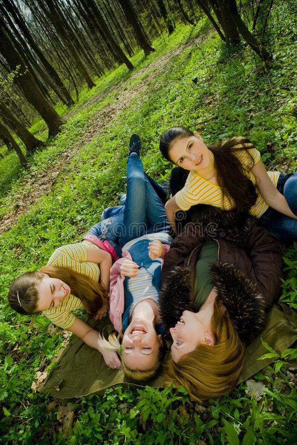 Women resting royalty free stock images