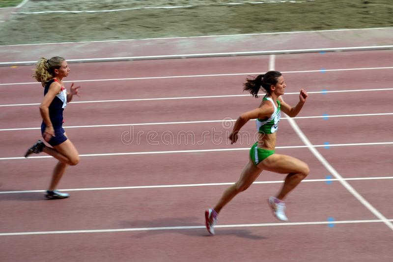 Women running in competition