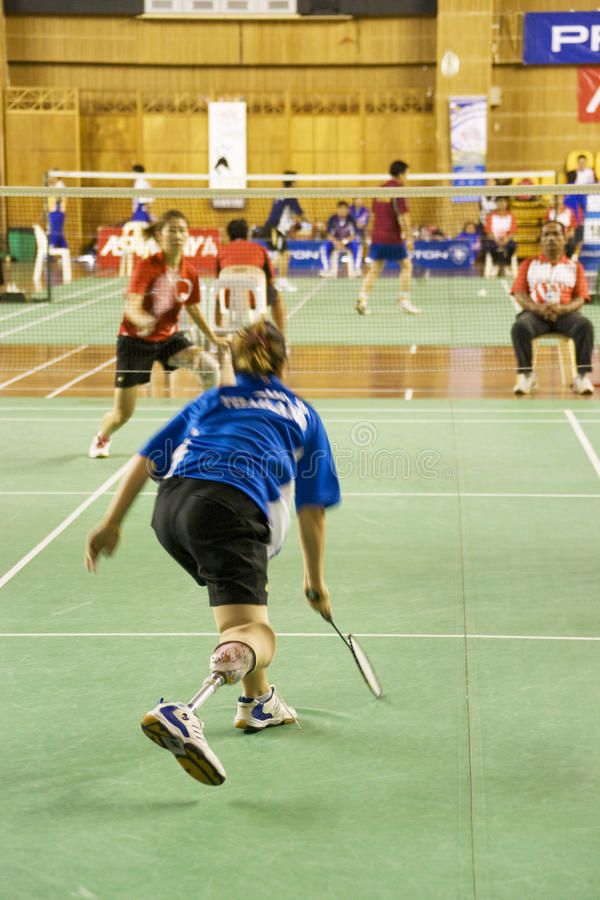 Download Women's Badminton For Disabled Persons (Blurred) Editorial Image - Image: 10628815