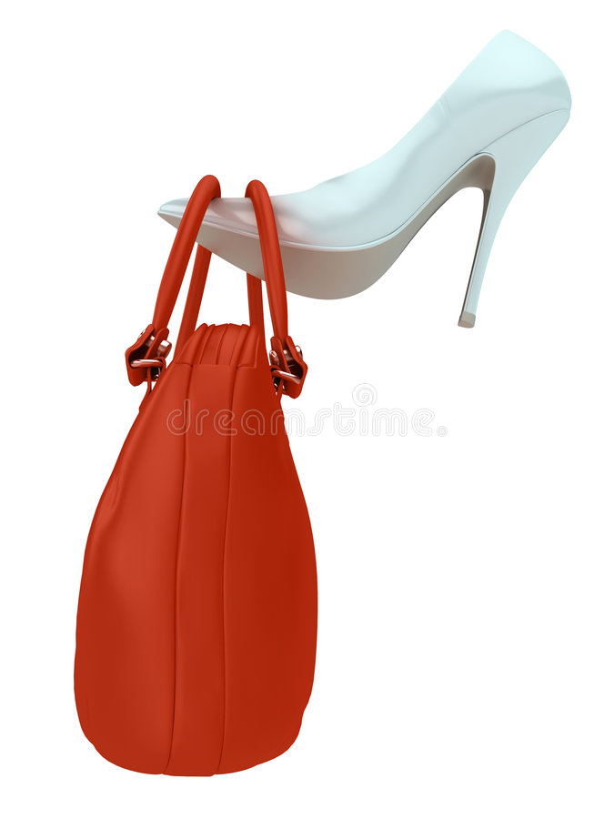 Download Women's bag and shoe stock illustration. Image of isolated - 8657602