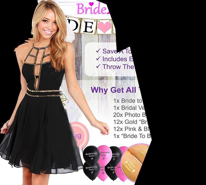 Women's Black Sleeveless Dress stock photography