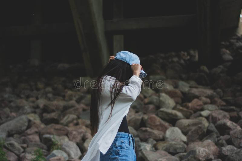 Women's Blue Fitted Cap On Day Time Free Public Domain Cc0 Image