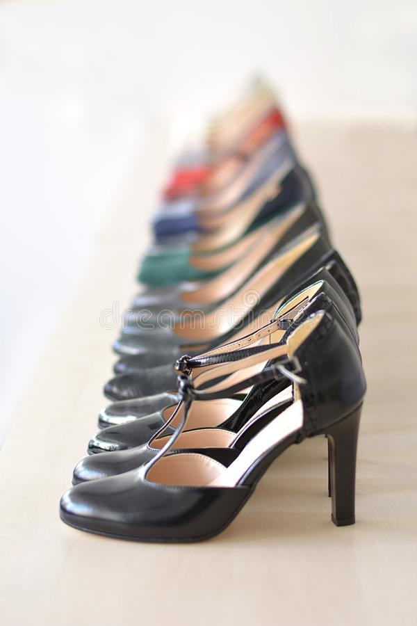 womens footwear store royalty free stock image