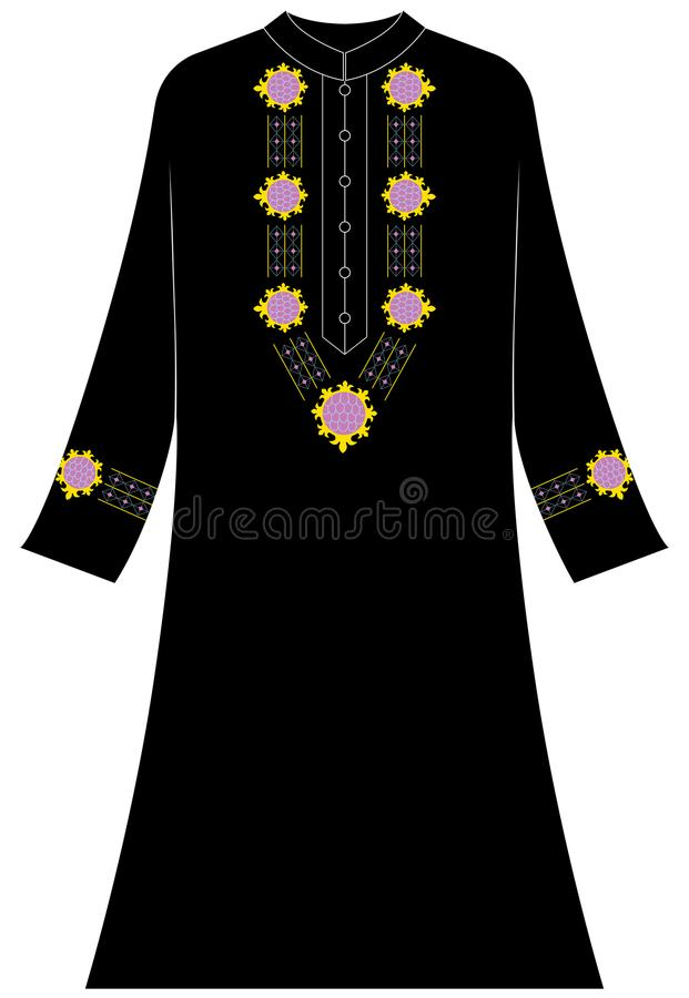 Women`s clothing: Abstract and geometric ornaments stock illustration