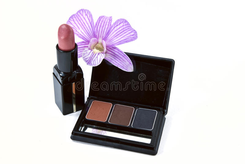 Women's cosmetic. Shot on white background stock photography