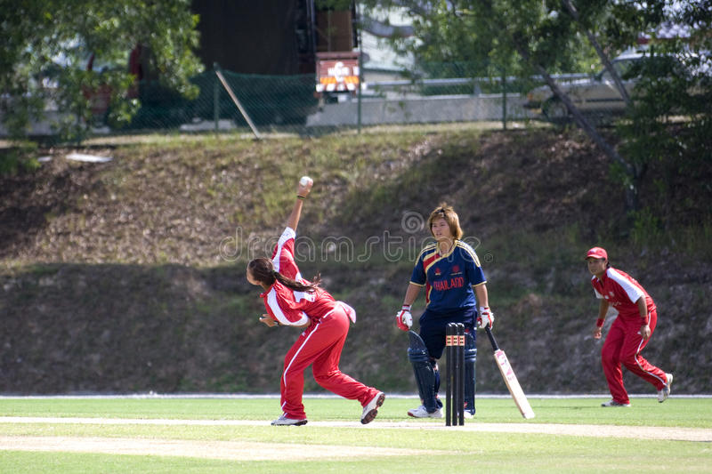 Download Women's Cricket Action Editorial Image - Image: 10115640