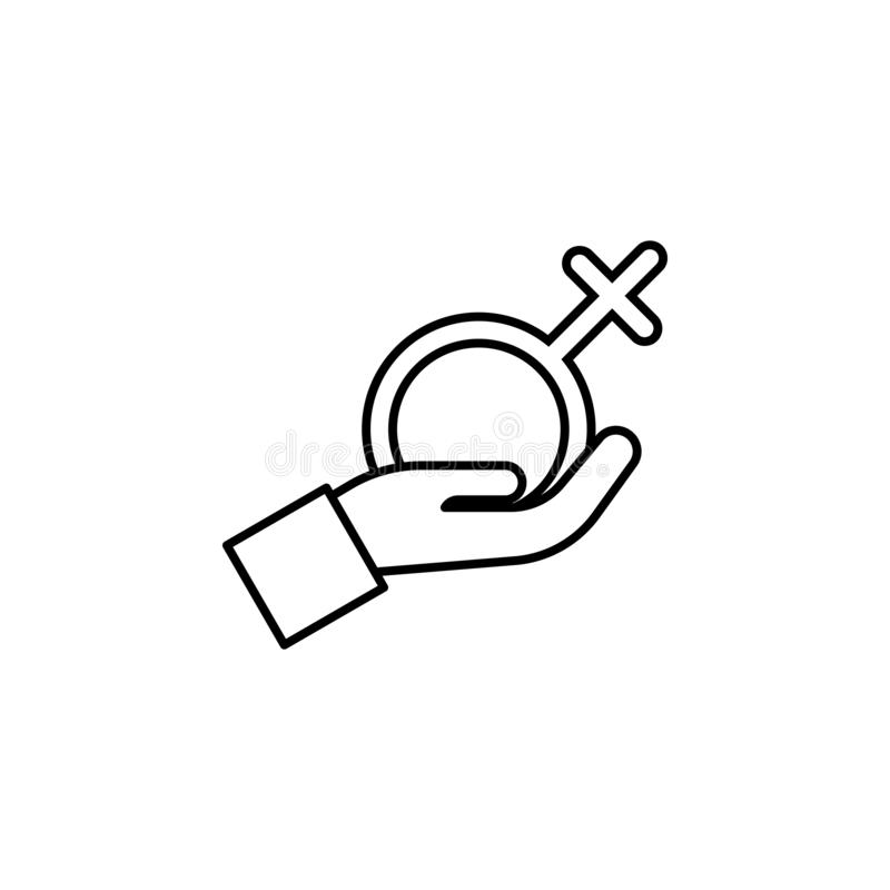 Women's day, arm, gender icon. Simple thin line, outline  of 8 march icons for UI and UX, website or mobile application vector illustration