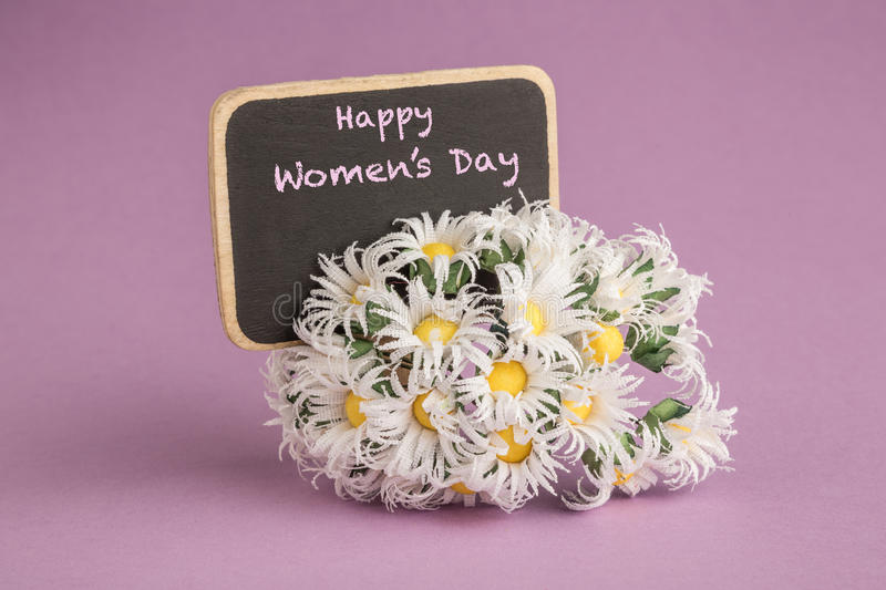 Women's day greeting stock image