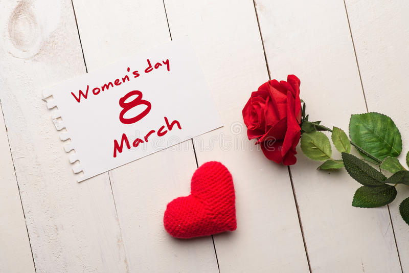 Women s day greeting stock photo