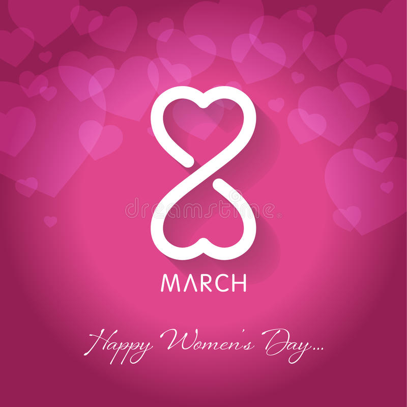 Womens happy womens day greeting card vector illustrationday. Happy womens day greeting card vector illustration stock illustration