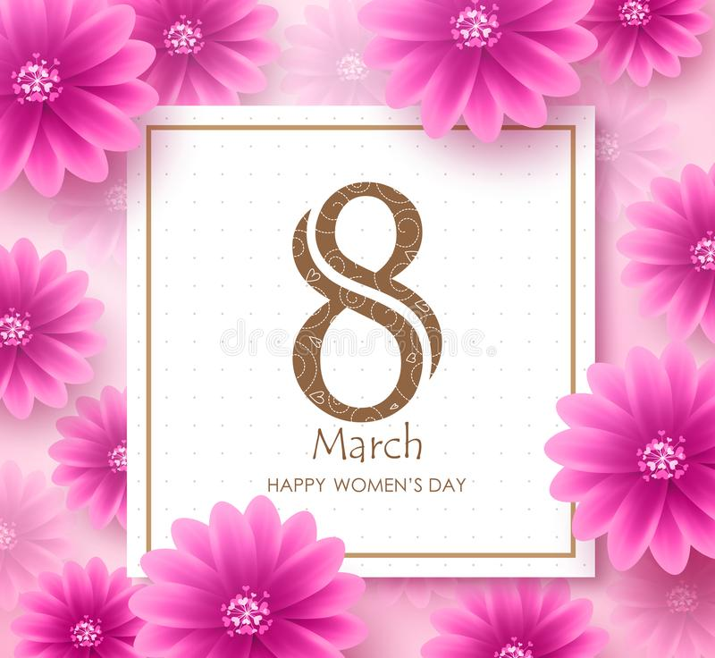 Download Women`s Day Vector Banner Design Template With March 8 Text Stock Vector - Illustration of girl, international: 108075467