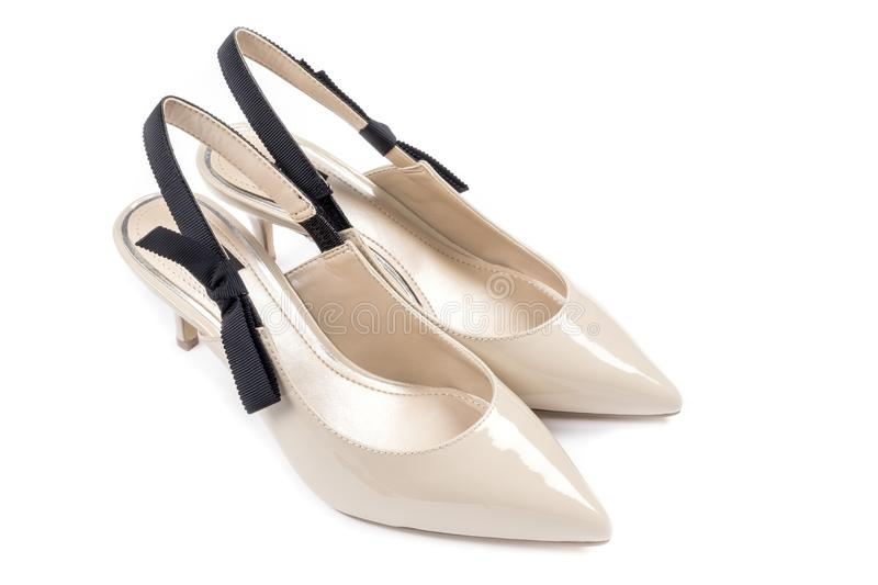 Scarpe Sposa The Woman In White.Women S Dress Shoes With Kitten Heels 1 Stock Image Image Of