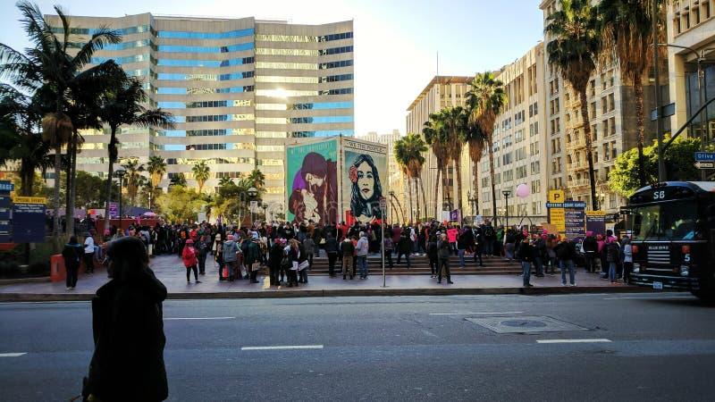 Women& x27; s endereza el LA fotografía de archivo