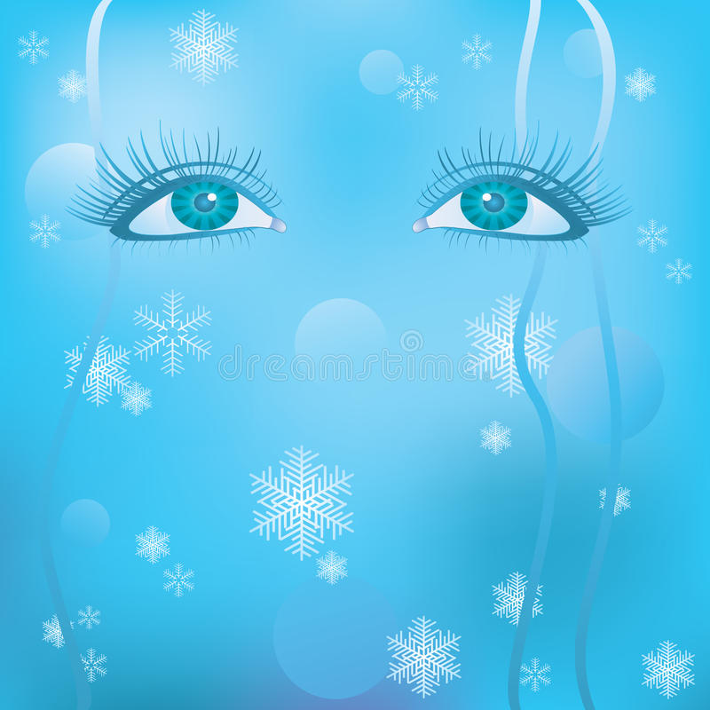 Download Women's eyes stock vector. Image of side, icon, sadness - 17058408