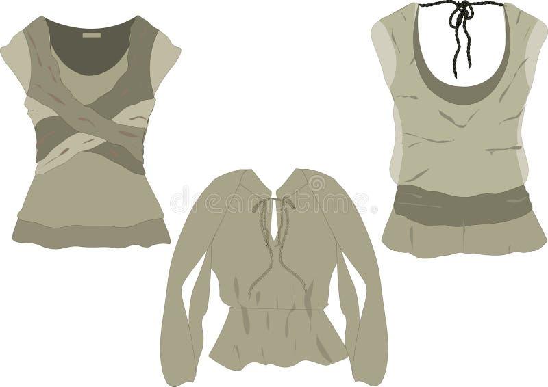 Download Women's Fashion Tops  Sketches Stock Illustration - Illustration: 9999138