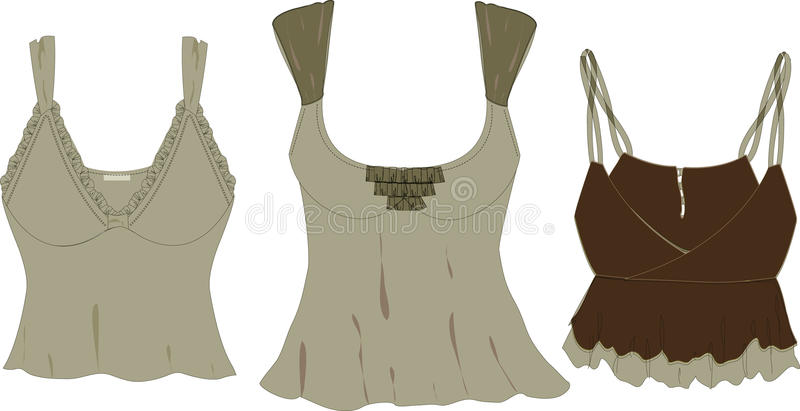 Download Women's Fashion Tops Vector Sketches Stock Vector - Image: 9999136
